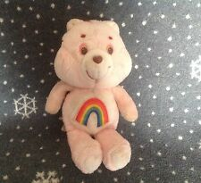 "VINTAGE 80's CARE Bears Pink Cheer Bear Soft Plush Toy 13"" Tall"