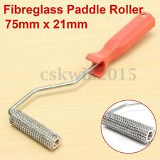 Fibreglass Bubble Burster Paddle Roller 75x21mm Plastic Handle Compression Tool