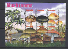 GRENADA MUSHROOMS CHAMPIGNONS souvenir sheets (3) VF MNH