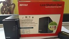 Buffalo NAS 4 TB link station duo. Network attached storage.