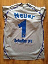 4,3/5 FC SCHALKE 04 #1 NEUER ORIGINAL FOOTBALL SOCCER GOALKEEPER SHIRT JERSEY