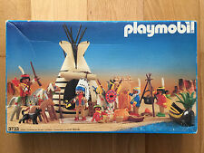 PLAYMOBIL 3733 INDIAN CAMP INDIOS OESTE WESTERN OVP BOX CAJA VINTAGE COMPLET