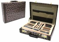 Royalty Line 72 pcs stainless steal satin cutlery set silver with briefcase