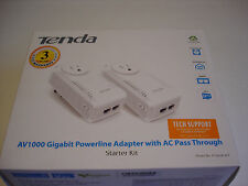 TENDA P1002P Kit AV1000 Gigabit Powerline Network Adapter with AC Pass Trough