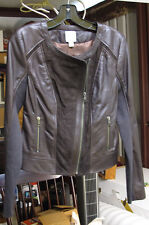 Women's / Young Girl's Brown Leather Jacket by Halogen - XS