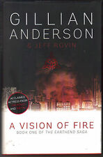 GILLIAN ANDERSON & Jeff Rovin - A Vision Of Fire H/B D/J 1st Edn
