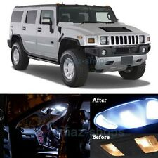 16x Pure White Interior LED SMD Lights Package Kit for 2003-2009 Hummer H2 MP
