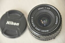 NIKON NIKKOR 28mm Series E f2.8 Lens with caps, made in Japan. Collectable.