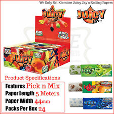 Juicy Jays Kingsize Flavoured ROLLS 8 Flavours - 3 of Each - 24 Rolls Per Box