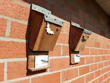 TWO BAT NEST -  ROOSTING BOXES. hand made  with quality timber and felt roof  ��