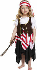 Toddler Girl Pirate Fancy Dress Costume Kids Outfit Swashbuckle Neverland 2-3yrs