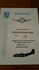 German special forces parachute wings certificate