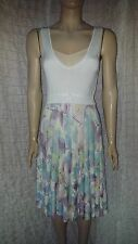Andre Maurice sleeveless knitted sun dress with pleated full skirt size 12 UK