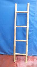 Scala in bamboo cm 160X40 etnico porta asciugamani bagno color naturale bambù
