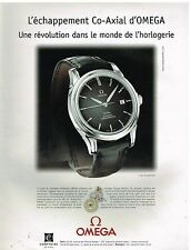 Publicité Advertising 2001 La Montre Co-Axial Omega