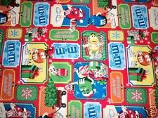 M & M CANDY FABRIC CHRISTMAS FABRIC SAMPLER PATTERN CP45924 GIFT TAGS BTY NEW