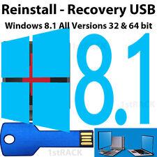 Windows 8.1 All Versions 32 & 64 bit - Reinstall, Recovery, Repair USB w/Hd