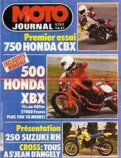 MOTO JOURNAL  647 Test HONDA CBX 750 F ; SUZUKI RH 250 ; Kyalami 1984