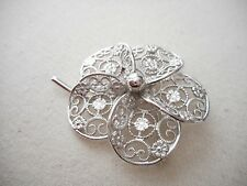 Vintage Van Dell Sterling Silver Filigree Flower Brooch  RE2009