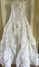 Maggie Sottero Couture Wedding Gown Size 14 Corset Sweetheart Neckline Train