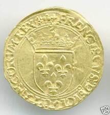 FRANÇOIS Ier (1515-1547) ECU D'OR AU SOLEIL POINT 12° ATELIER DE LYON QUALITE !!