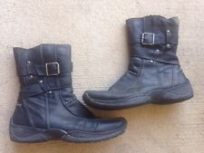 Bos & CO Motion Boots Black Leather Size 37 EUC