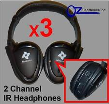 3x Headphones wireless car DVD compatible with Toyota Ford Chrysler Pathfinder
