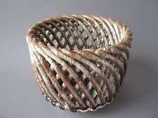 Muerztaler Flecht Korb Keramik Austria Planter Uebertopf Schale 50er 60er Design