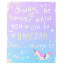 VINTAGE STYLE METAL SIGN PLAQUE SHABBY CHIC KITCHEN PICTURE FUNNY UNICORN GIFT