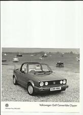 VW VOLKSWAGEN GOLF CONVERTIBLE CLIPPER PRESS PHOTO 'SALES BROCHURE' CONNECTED