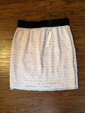 NEW WITH TAGS!!  LAUREN CONRAD PINK/BLACK RUFFLE SHORT SKIRT! SZ SMALL