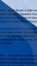 A5 202 Medium Blue Coloured Sheet Overlay Dyslexia Transparent Stress reading