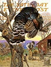 Saturday Evening Post Turkey Farm Thanksgiving by Joseph Christian Leyendecker c
