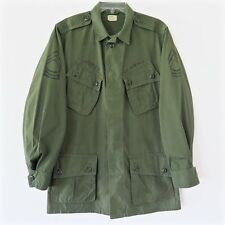 VINTAGE 1964 US ARMY FIRST PATTERN JUNGLE JACKET COMBAT TROPICAL SMALL LONG