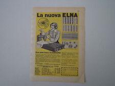 advertising Pubblicità 1956 MACCHINA PER CUCIRE ELNA ELNAGRAPHE