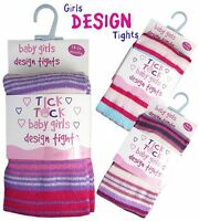 BABY Girl Cotton Rich Knitted Striped Winter  Fancy  Design Tights NEW