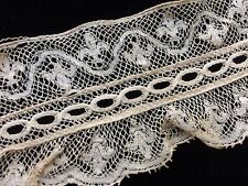 Antique Ruffle Lace Trim French Dolls Prim Primitive Doll Crafters Altered Art