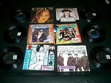 80's Records 45 RPM CULTURE CLUB Lot Of 10 different records / 7 With P/S