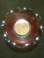 Marigold Carnival Glass Headdress Bowl w/ Curved Flower Exterior - US Glass 5.5""