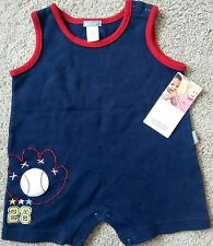"""NEW onesie sunsuit by CARTER'S.  6 mos.  Measurement shoulder to cuff is 16""""."""