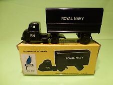 BUDGIE TOYS 702 SCAMMEL SCARAB ROYAL NAVY - ARMY BLUE - GOOD CONDITION IN BOX