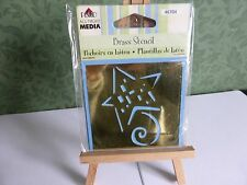 BRASS STENCIL STAR  IDEAL FOR CARD MAKING SCRAPBOOKING & PROJECTS