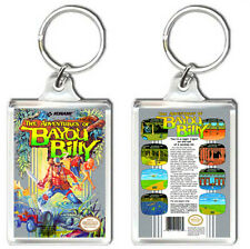 THE ADVENTURES OF BAYOU BILLY NINTENDO NES KEYRING LLAVERO