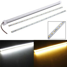 DC 12V 11W 5630 SMD 36 LED Rigid Strip Cabinet Light+Cover+Plastic Mount 50CM