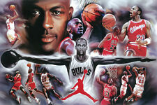 #Z137 Michael Jordan Collage Painting Poster 24X36