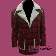 Deadpool Ryan Reynolds Red Shearling Fur Jacket Coat For Mens and Womens