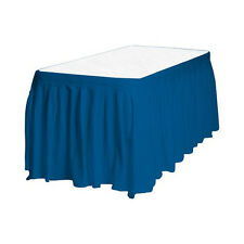 Touch of Color Easy Stick Plastic Table Skirt, 14-Feet, - royal blue