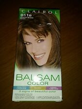 Clairol 611b Medium Bronze Brown Balsam Color Permanent