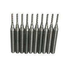 Lot 10 Pcs Carbide End Mill Engraving Bits for CNC PCB Cutter Rotary Burrs 1.2mm