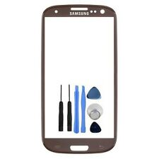 Samsung Galaxy S3 i9300 Amber brown Front Top Replacement Glass UK Seller